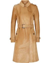 London calf hair trench coat medium 320715