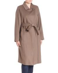 Marina Rinaldi Plus Size Virgin Wool Trench Coat