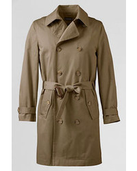 Lands' End Regular Trench Coat Coral Ruby