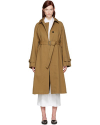 Tan croquet trench coat medium 1151755