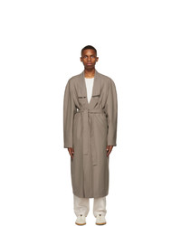 Lemaire Taupe Light Robe Trench Coat