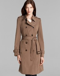 Calvin Klein Trench Coat Double Breasted Belted