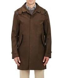 Barneys New York Water Resistant Raincoat Green