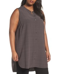 Plus size tencel blend tunic shirt medium 5034920