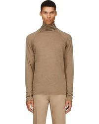 Brown fine wool turtleneck medium 90855