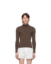 Ludovic De Saint Sernin Brown Knit Turtleneck