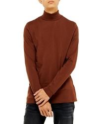 Topman Classic Fit Long Sleeve Turtleneck Shirt