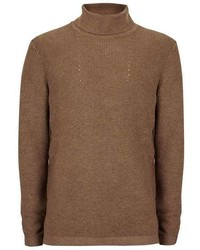 Selected Homme Brown Turtle Neck Sweater
