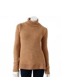 JLO by Jennifer Lopez Jennifer Lopez Lurex Textured Turtleneck Sweater
