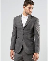 Asos Brand Skinny Suit Jacket In Tweed