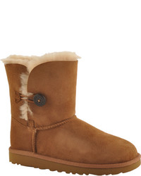 UGG Girls Bailey Button Big Kids Black Boots