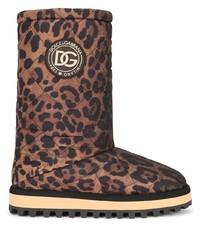 Dolce & Gabbana Leopard Print Boots