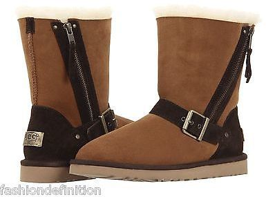 ... UGG New Australia Blaise Sheepskin Brown Chestnut Winter Snow Boots Shoes ...