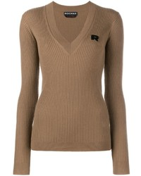 Brown v neck sweater original 1323177