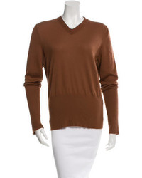 Hermes Herms Cashmere V Neck Sweater