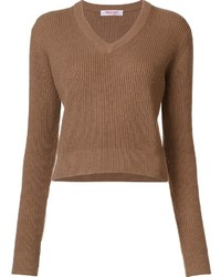 Organic by john patrick v neck cropped pullover medium 1055600