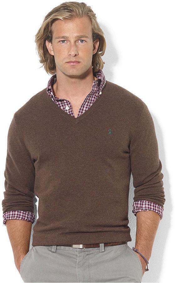 ... Polo Ralph Lauren Sweater V Neck Merino Wool Sweater