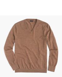 Tall italian merino wool v neck sweater medium 5310426