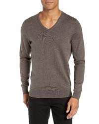 Nordstrom Men's Shop V Neck Merino Wool Sweater