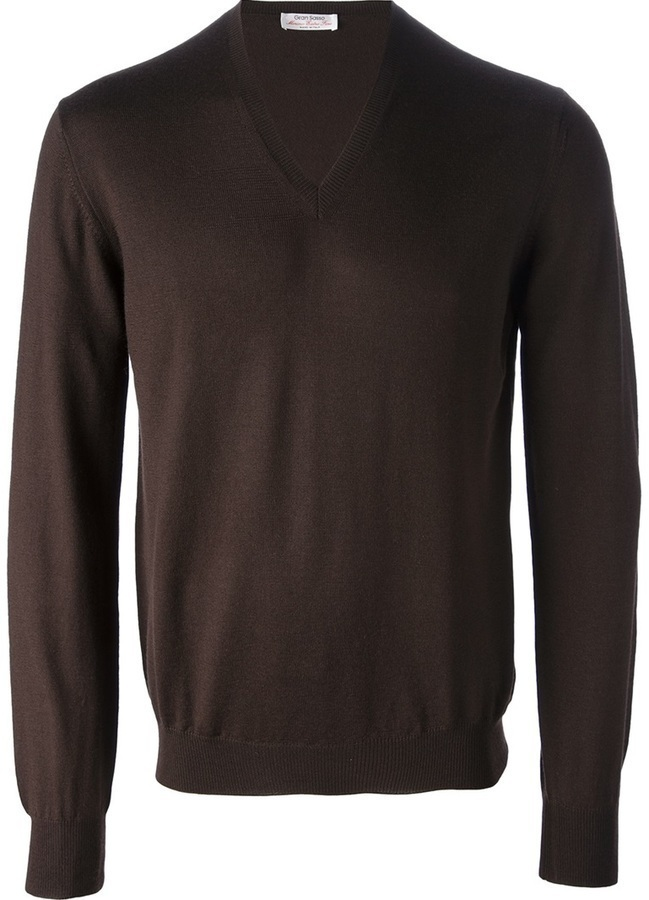 Gran Sasso V Neck Sweater
