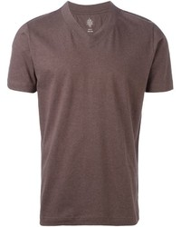 Brown v neck t shirt original 381888