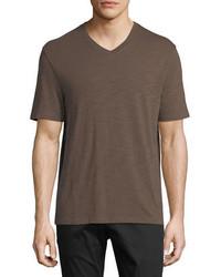 Slub pima cotton v neck t shirt medium 5253265