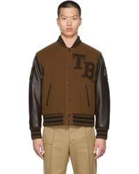 Burberry Brown Felton Varsity Jacket