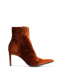 Haider Ackermann Brown 70 Velvet Ankle Boots