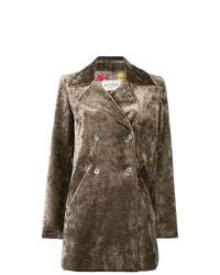 Etro Velvet Double Breasted Coat