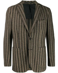 Tagliatore Slim Fit Striped Blazer