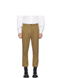 Brown Vertical Striped Chinos