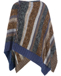 Knitted cape with mohair medium 348828