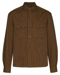 Kenzo Stripe Pattern Shirt Jacket