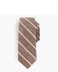 J.Crew Silk Linen Tie In Thin Stripe