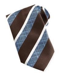 Brown Vertical Striped Tie