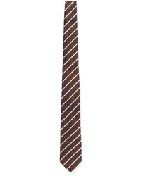 Canali Diamond Regital Stripe Silk Tie