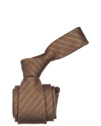 Republic Striped Woven Microfiber Neck Tie Brown