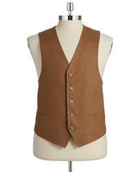 Black Brown 1826 Linen Vest