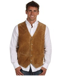 Roper Suede Vest With Front Yokes