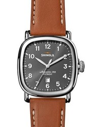 Shinola 41mm Guardian Watch Tan Beaumontgray