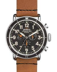 48mm runwell sport chronograph watch tan medium 655185