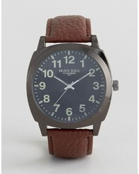 Brave Soul Brown Watch With Black Full Figured Dial