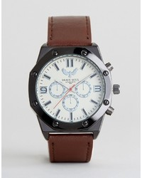 Brave Soul Brown Watch With Imitation Inner Dials