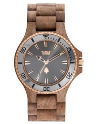 Date mb wood bracelet watch 42mm medium 4154728