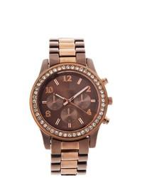 Geneva Platinum Glitz Watch Brownrose