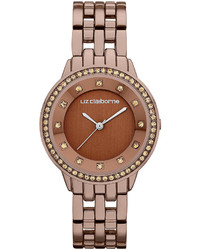 Ladies brown watch with crystals medium 254322