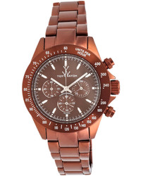 Toywatch chrono metallic brown watch medium 254324