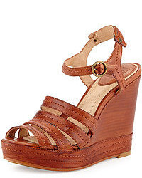 Brown wedge sandals original 1642641