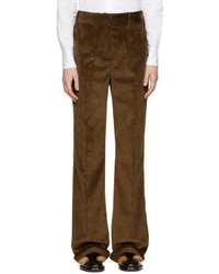 Prada Brown Corduroy Wide Leg Trousers
