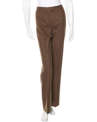 Loro Piana Wide Leg Wool Pants